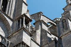 Chartres Cathedral buttress detail 02 Stock Photography