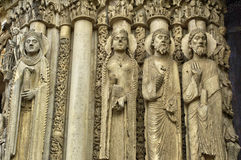 Chartres cathedral in  Eure et Loir Royalty Free Stock Images