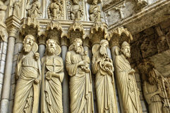 Chartres cathedral in  Eure et Loir Stock Image