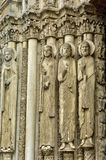 Chartres cathedral in  Eure et Loir Royalty Free Stock Photo