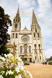 Chartres Cathedral facade Royalty Free Stock Photos