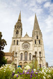 Chartres Cathedral facade Stock Photo