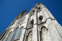 Chartres Cathedral facade Royalty Free Stock Photo