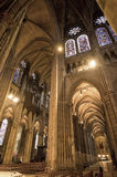 Chartres - Cathedral interior Stock Photography