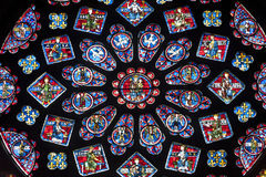 stained glass window chartres cathedral royalty free