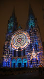 Chartres cathedral light show Stock Image
