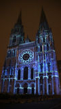 Chartres cathedral light show Stock Photos