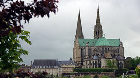 Chartres cathedral panorama Stock Photos