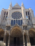 Chartres Cathedral. Picture of the Cathedral of Chartres, France. South transept façade royalty free stock photos