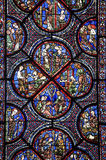 Chartres - Cathedral, stained glass Stock Photo