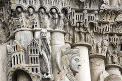 Chartres - cattedrale Fotografia Stock Libera da Diritti