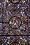 Chartres - cattedrale, finestra di vetro macchiata Fotografie Stock Libere da Diritti