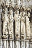 Chartres - domkyrka Arkivbild