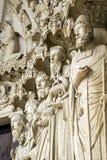 Chartres - domkyrka Arkivfoto