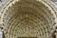 Chartres domkyrka i Eure och Loir Royaltyfri Bild
