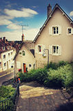 Chartres in France. Small street in the town called Chartres Stock Image