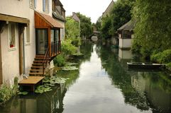 Chartres in France. Small street in the town called Chartres Royalty Free Stock Images