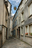 Chartres in France. Small street in the town called Chartres Stock Photos