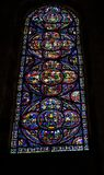 CHARTRES, FRANCE - JULY 19, 2017: Stained glass windows of Chartres Cathedral. Royalty Free Stock Photo