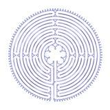 chartres harmonilabyrint Royaltyfri Bild