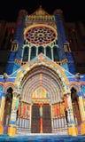 chartres iluminacja Zdjęcie Royalty Free