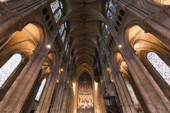 Chartres - interior da catedral Fotografia de Stock Royalty Free
