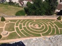 Chartres - Jardins de l'Evêché Royaltyfria Bilder