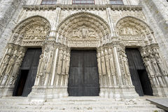 Chartres - Katedra Obrazy Royalty Free