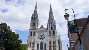Chartres katedra Francja Obrazy Stock