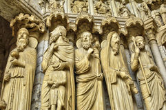 Chartres katedra w Eure et Loir Zdjęcie Royalty Free