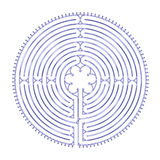 Chartres Labyrinth Harmony Royalty Free Stock Image