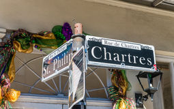 Chartres street sign in New Orleans, Louisiana Stock Photos