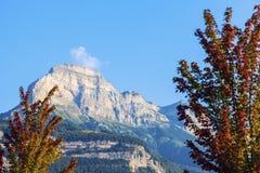 Chartreuse berg som ses från Grenoble Royaltyfria Foton
