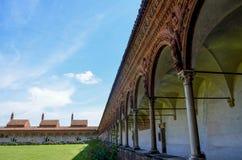 Chartreuse de Pavía, claustro Foto de archivo libre de regalías