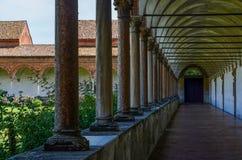 Chartreuse de Pavía, claustro Imagenes de archivo