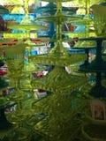 Chartreuse en Turkooise Caketribunes stock afbeeldingen