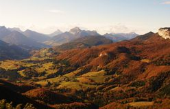 Chartreuse landscape Royalty Free Stock Image