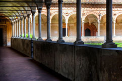 Chartreuse of pavia, cloister Royalty Free Stock Photography