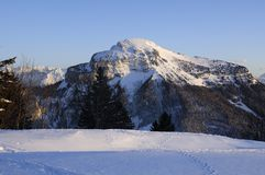 Chartreuse range in Winter Royalty Free Stock Image