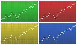 Charts. Vector collection of finance charts Royalty Free Stock Photography
