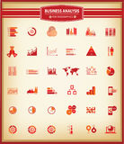 Charts and Business analysis,Finance graph,For Infographics. Red version Stock Photo