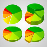 Charts Business statistics. Stock Images