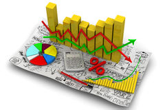 Charts. Business still life Stock Photography