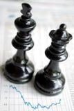 charts chessmen Fotografering för Bildbyråer