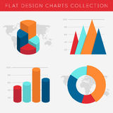 Charts Collection in flat design Royalty Free Stock Image