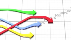 Charts competition beautiful 3d animation. HD 1080 vector illustration