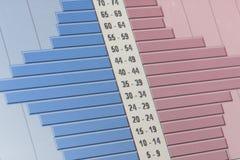 charts data Arkivbilder