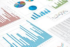 Charts and diagrams Stock Photos