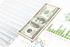 Charts, Diagrams And Money Stock Photo