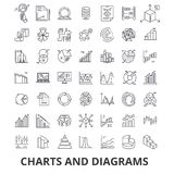 Charts and diagrams, diagram element, flow chart, circle diagram, graphic, arrow line icons. Editable strokes. Flat. Design vector illustration symbol concept Royalty Free Stock Image